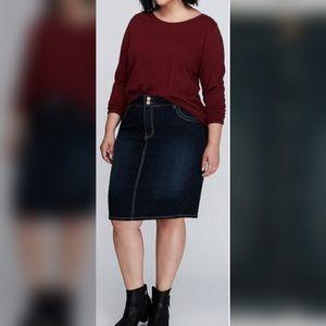 Lane Bryant Pocket Denim Pencil Skirt